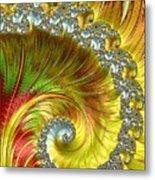 Fractal Spiral Three Metal Print