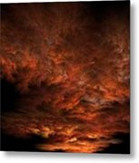 Fractal Sunset Metal Print