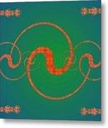 Fractal Yin And Yang Metal Print
