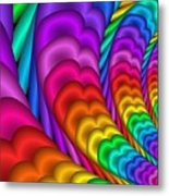 Fractalized Colors -10- Metal Print
