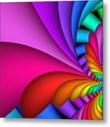 Fractalized Colors -2- Metal Print