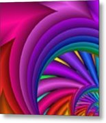 Fractalized Colors -3- Metal Print