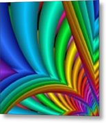 Fractalized Colors -4- Metal Print