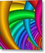 Fractalized Colors -9- Metal Print by Issabild -