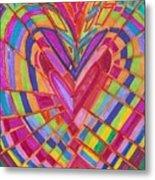 Fractured Heart Metal Print