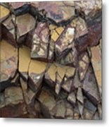 Fractured Layers Metal Print