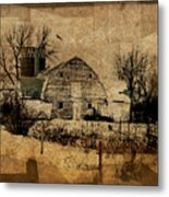 Fragmented Barn  Metal Print by Julie Hamilton