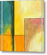 Framed - Contemporary Modern Abstract Art Painting  Metal Print