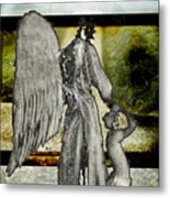 Framed Angel Metal Print