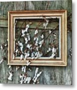 Framed Cotton Metal Print