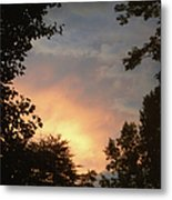 Framed Fire In The Sky Metal Print