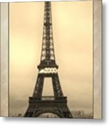 Framed In Paris  Metal Print