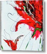 Framed Scribbles And Splatters On Canvas Wrap Metal Print