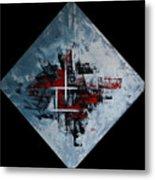 Frammenti In Rosso E Nero Metal Print