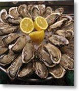 France, Paris Oysters On Display Metal Print