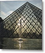 France, Paris The Louvre Museum Metal Print