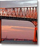 Francis Scott Key Bridge At Sunset Baltimore Maryland Metal Print