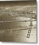 Francisco Sky Line Vintage  Metal Print