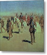 Francisco Vasquez De Coronado Making His Way Across New Mexico Metal Print