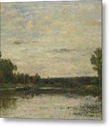 Francois Daubigny   View On The Oise Metal Print