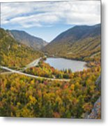 Franconia Notch Autumn View Metal Print