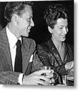 Frank Sinatra And Nancy Metal Print