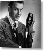 Frank Sinatra At  Nbc Radio Station 1941 Metal Print