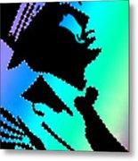 Frank Sinatra In Living Color Metal Print by Robert Margetts