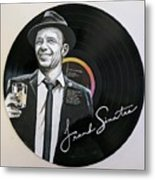 Frank Sinatra Portrait On Lp Metal Print