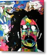 Frank Zappa Pop Art Metal Print