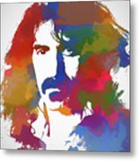 Frank Zappa Watercolor Metal Print