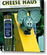 Frankenmuth Cheese Haus Mouse  Metal Print