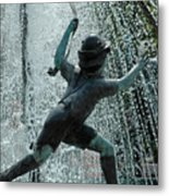 Frankenmuth Fountain Boy Metal Print