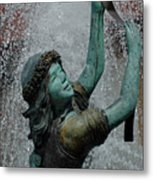 Frankenmuth Fountain Girl Metal Print