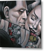 Frankenstein And Wife  Metal Print