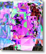 Frankenstein In Abstract Cubism 20170407 Square Metal Print