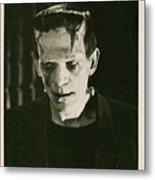 Frankensteins Monster Boris Karloff Metal Print