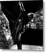 Frankensteins Monster Chained The Castle Played By Boris Karloff Metal Print