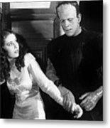 Frankensteins Monster Molests Young Girl Boris Karloff Metal Print