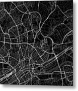 Frankfurt Germany Dark Map Metal Print
