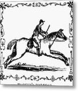 Franklin: Post Rider, 1775 Metal Print