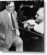 Franklin Roosevelt And Fiorello Laguardia In Hyde Park - 1938 Metal Print