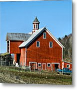 Franklin Spring Barn Metal Print