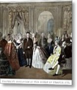 Franklin's Reception At The Court Of France Metal Print
