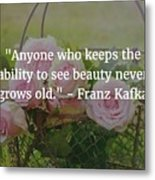 Franz Kafka Quote Metal Print
