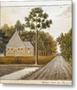 Fraser  Charles   Meeting House In Prince Williams Parish From Untitled Sketchbook Metal Print
