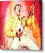 Freddy Mercury Metal Print
