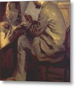 Frederic Bazille Painting The Heron 1867 Metal Print