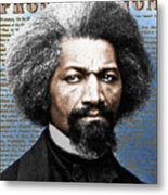 Frederick Douglass And Emancipation Proclamation Painting In Color  Metal Print