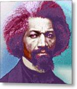 Frederick Douglass Painting In Color Pop Art Metal Print